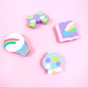 NWOR Vintage Sanrio Erasers Kawaii Rainbow Erasers